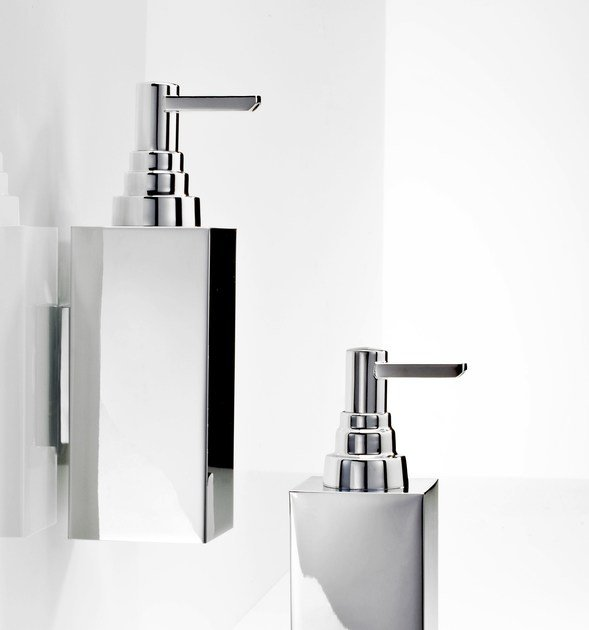 Wall-mounted chrome plated liquid soap dispenser DW 310 N - DECOR WALTHER