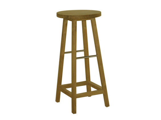 High wooden garden stool BAR | High garden stool - Il Giardino di Legno