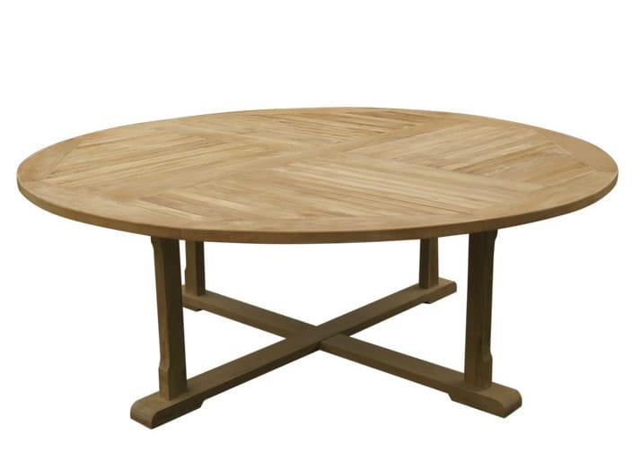 Round wooden garden table ATHENA - Il Giardino di Legno