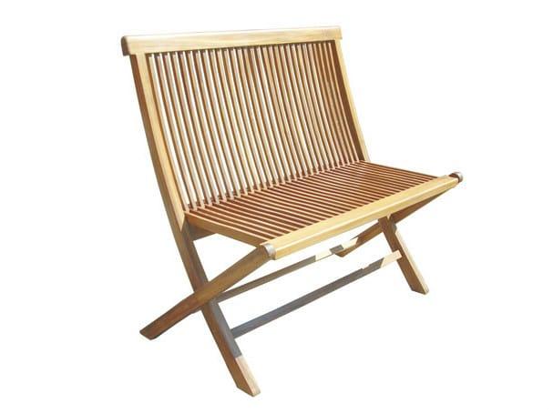 Wooden garden bench BRISTOL | Garden bench - Il Giardino di Legno