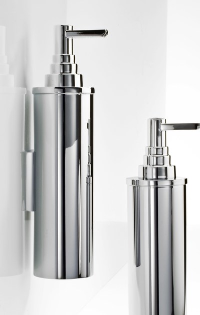 Wall-mounted chrome plated liquid soap dispenser DW 380 N by DECOR WALTHER