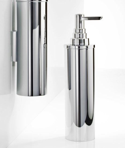 Chrome plated liquid soap dispenser DW 390 by DECOR WALTHER