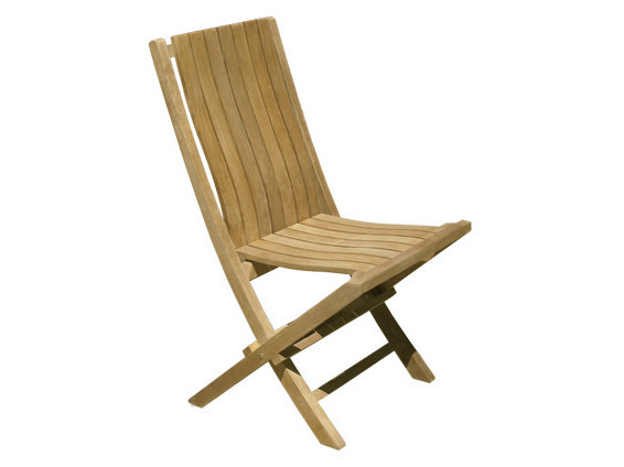 Folding wooden garden chair ONDA | Folding garden chair by Il Giardino di Legno