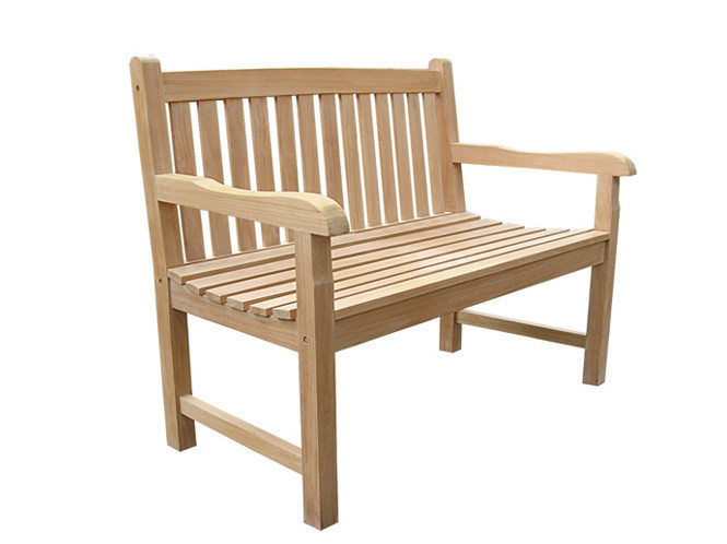 Wooden garden bench with armrests CLASSICA | Garden bench with armrests - Il Giardino di Legno
