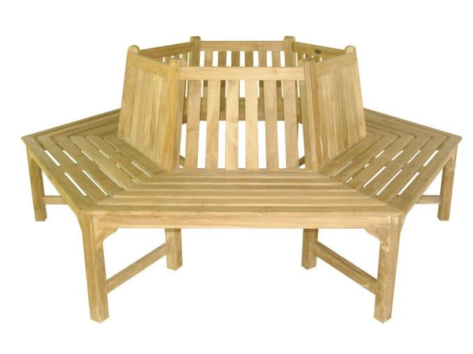 Wooden garden bench EXA - Il Giardino di Legno
