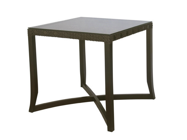 Square synthetic fibre garden table KROSS | Garden table - Il Giardino di Legno