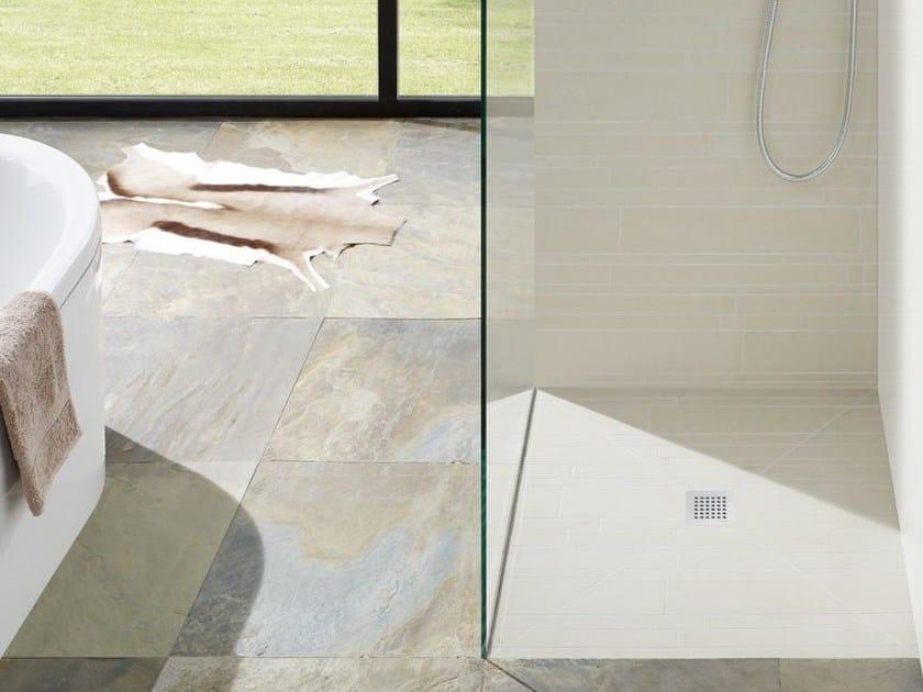 Flush fitting tiled extra flat shower tray FUNDO PLANO - Wedi Italia