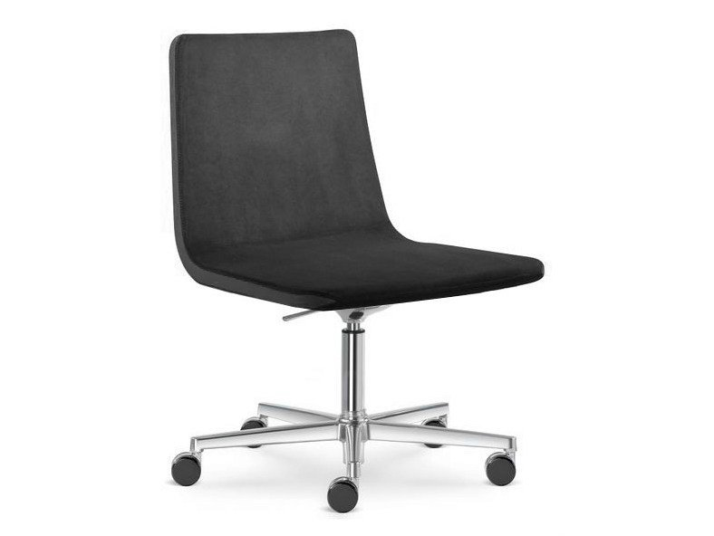 Height-adjustable swivel task chair with casters HARMONY | Task chair with 5-Spoke base - LD Seating