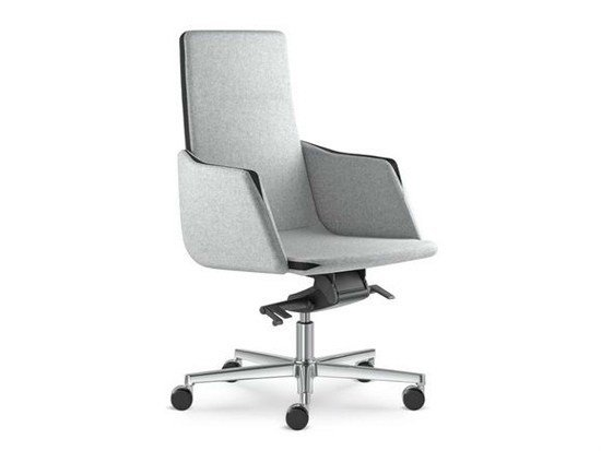 Swivel medium back executive chair with armrests HARMONY | Height-adjustable executive chair - LD Seating