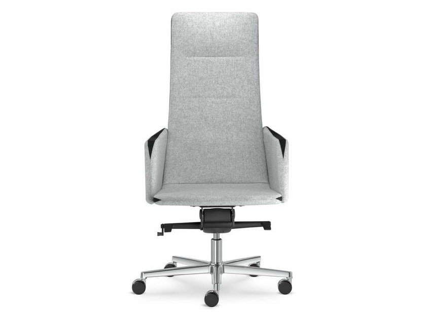 Height-adjustable swivel executive chair with armrests HARMONY | High-back executive chair - LD Seating