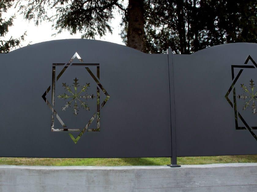 Recinzione modulare in lamiera rombo rett cmc for Pannelli recinzione giardino