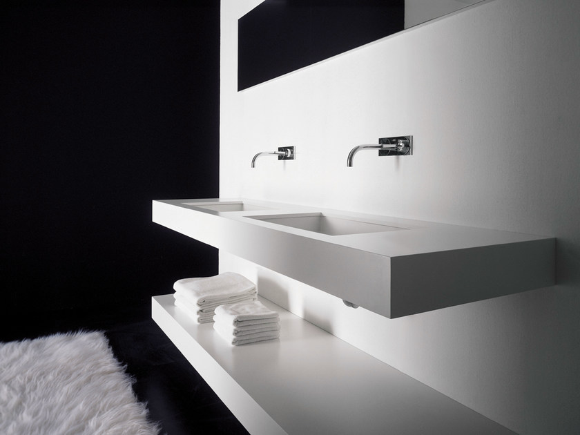 Double washbasin countertop BLOCK2 | Double washbasin countertop by Moab80