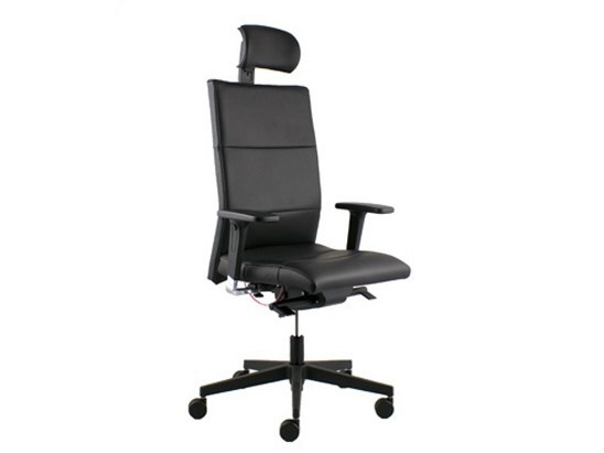 Executive chair with 5-spoke base with casters LASER | Swivel executive chair - LD Seating