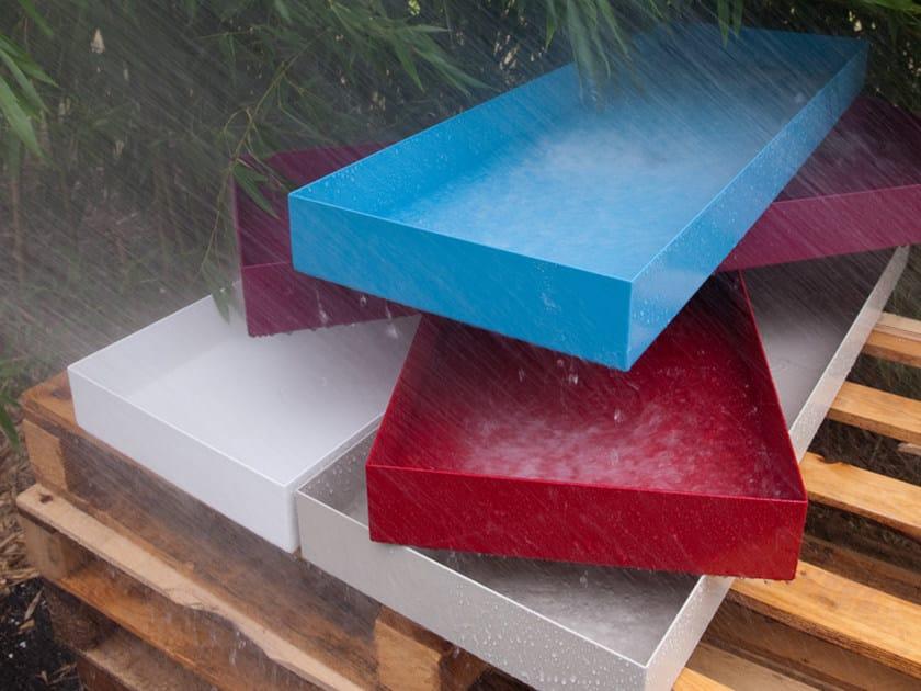 Lavabo sobre encimera rectangular en acero colecci n for Lavabo sobre encimera rectangular
