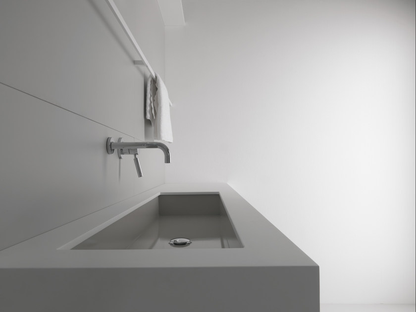 Rectangular undermount steel washbasin INDUSTRIAL LINE | Undermount washbasin - Moab 80