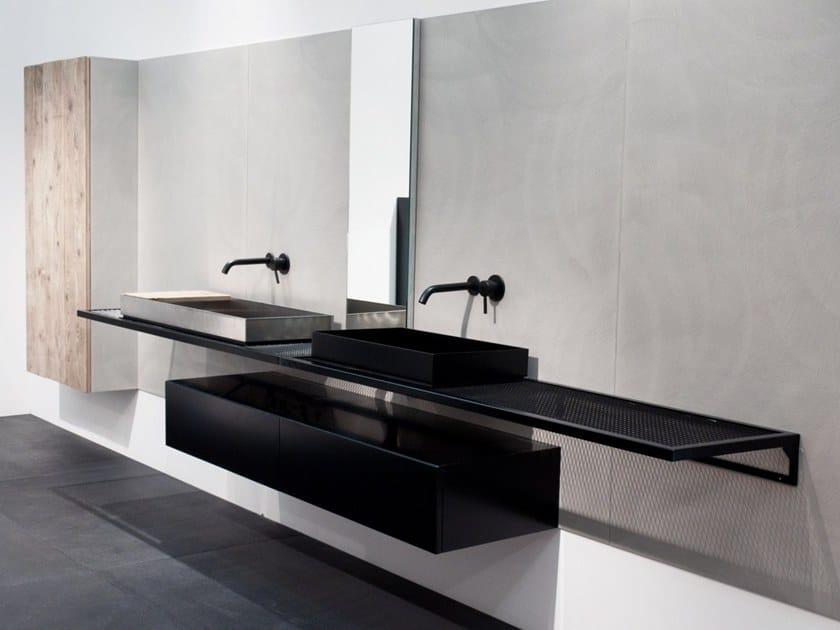 Piano lavabo doppio in lamiera industrial line piano for Lavabo industrial