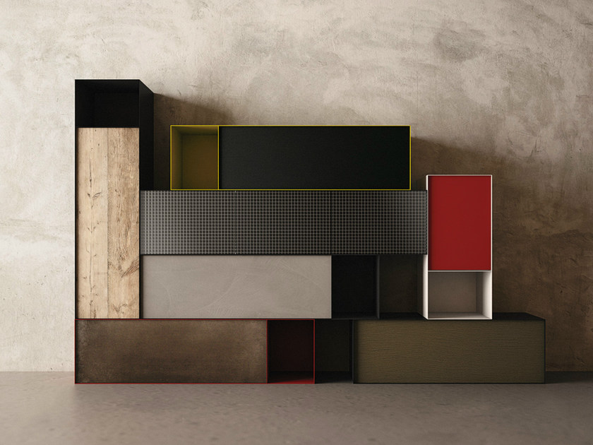 Modular storage wall ZERO20 | Storage wall by Moab 80