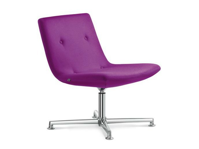 Upholstered easy chair with 4-spoke base SKY CLASSIC   Easy chair with 4-spoke base - LD Seating