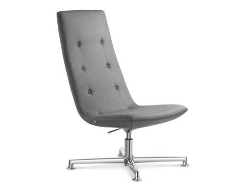 Height-adjustable executive chair with 4-spoke base with headrest SKY CLASSIC | Executive chair with headrest - LD Seating