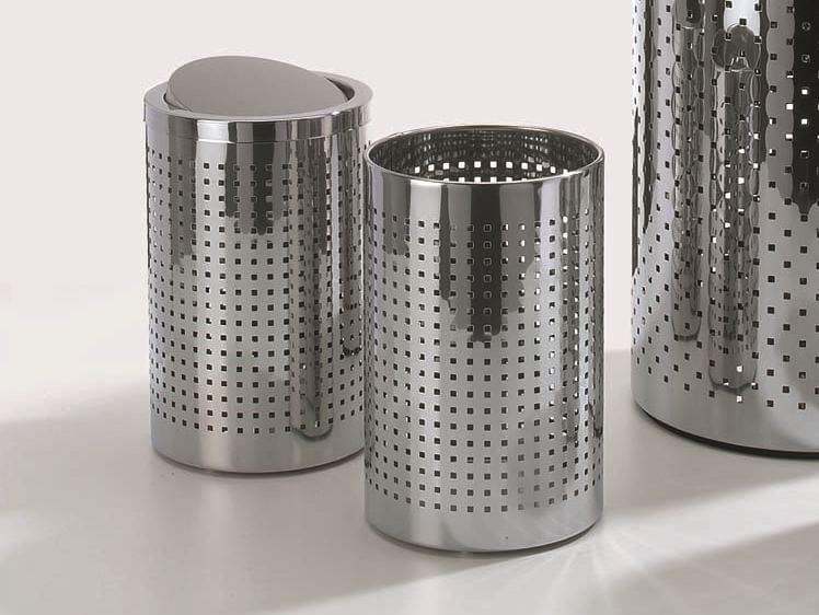 Steel bathroom waste bin DW 102 by DECOR WALTHER