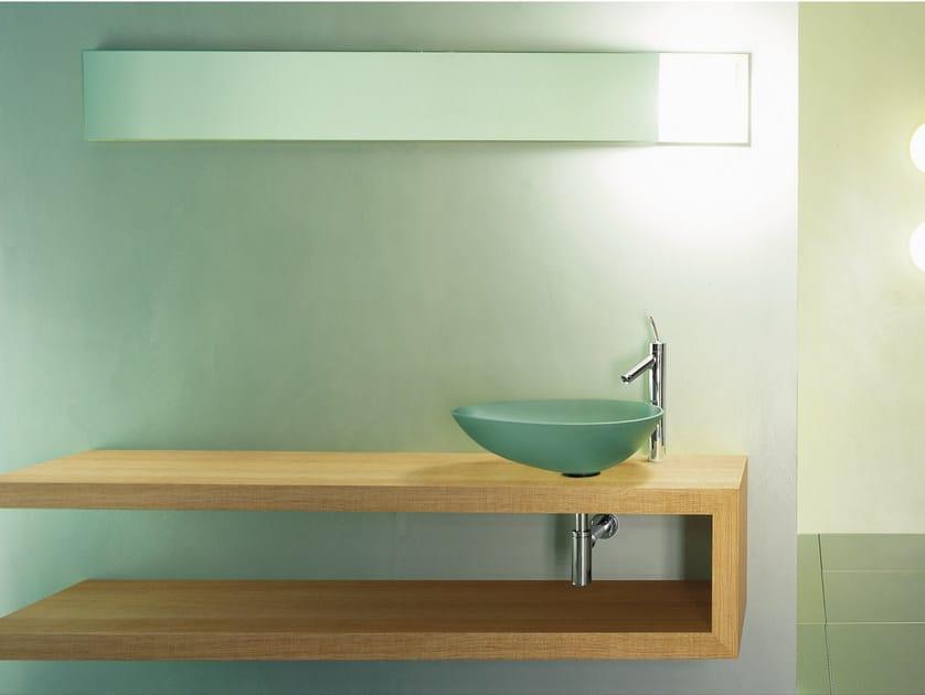 Single wall-mounted wooden vanity unit SHELF - Moab 80