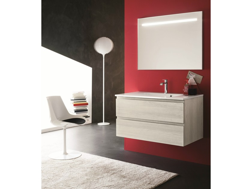 Single vanity unit with drawers AB 6060 - RAB Arredobagno