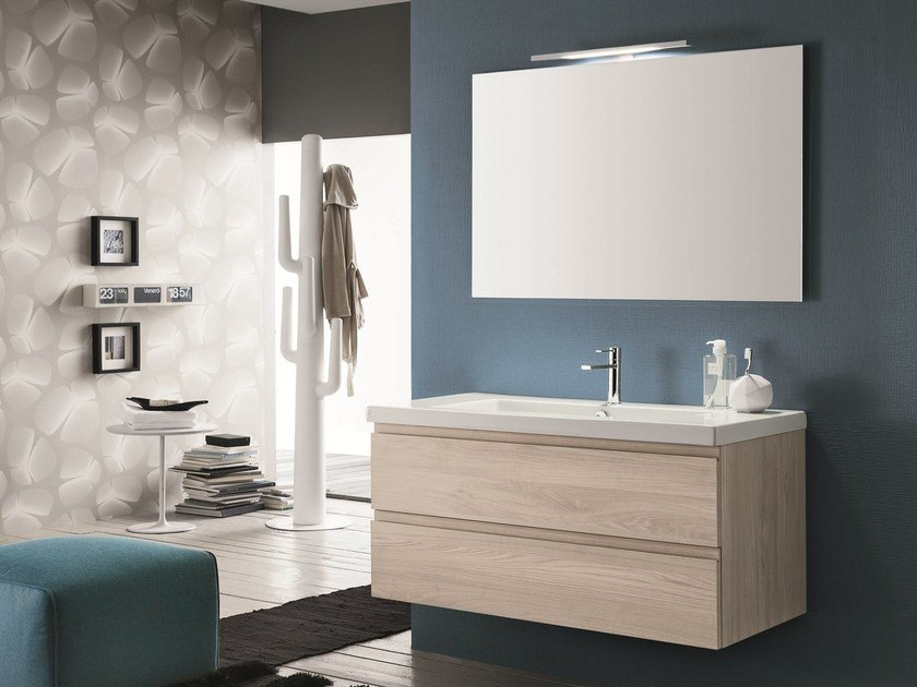 Single vanity unit with drawers AB 6070 - RAB Arredobagno