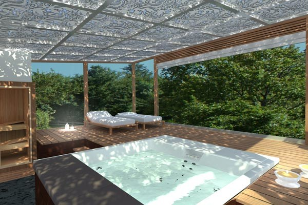 Steel pergola SPA by CAGIS