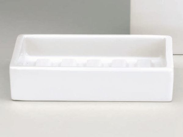 Countertop porcelain soap dish DW 615 by DECOR WALTHER