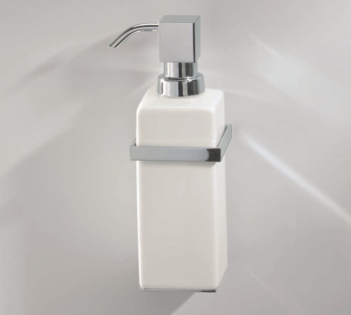 Wall-mounted porcelain liquid soap dispenser DW 6303 - DECOR WALTHER