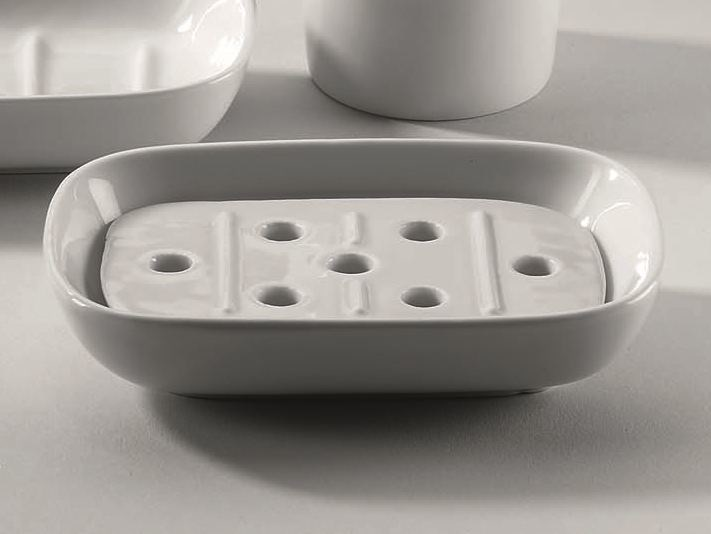 Countertop porcelain soap dish DW 503 - DECOR WALTHER
