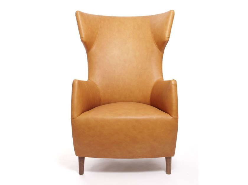 Upholstered wingchair with armrests HARDY | Armchair - Dare Studio