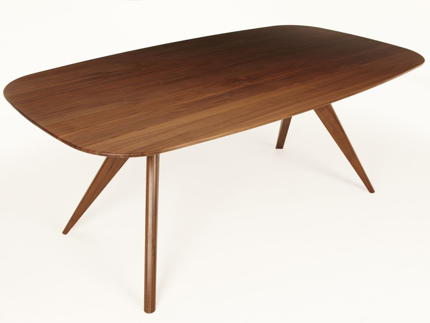 Rectangular walnut dining table OSKAR | Rectangular table - Dare Studio