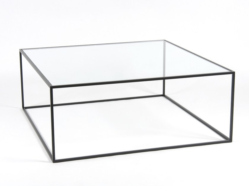 Low square coffee table for living room STRAND | Low coffee table - Dare Studio