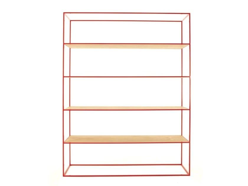 Open freestanding double-sided bookcase STRAND | Bookcase - Dare Studio