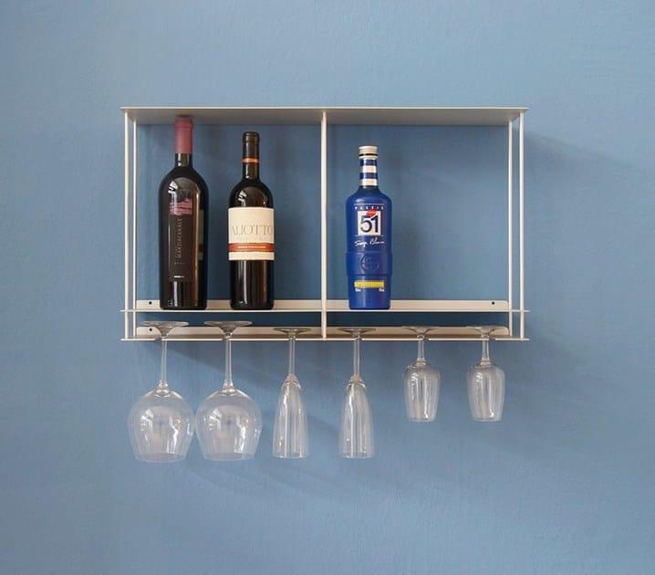 Aluminium bottle rack / wall cabinet Cantinetta - KRIPTONITE