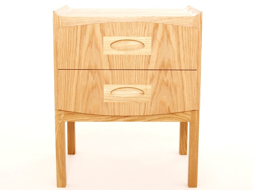 Square bedside table with drawers MORGAN | Bedside table - Dare Studio