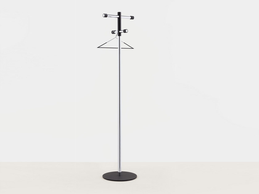 Chrome plated steel coat stand POM - MOX