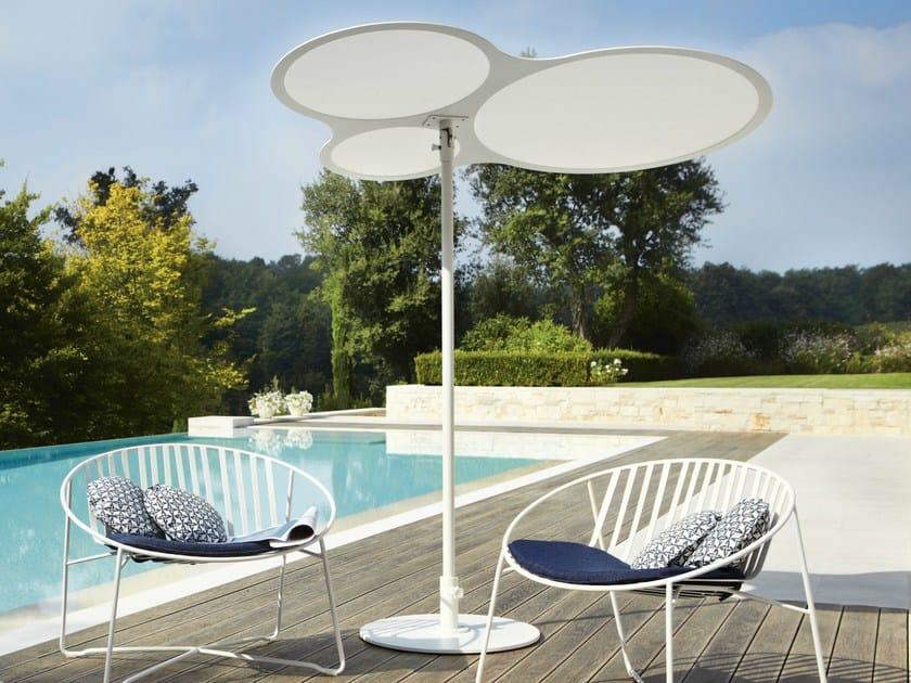 Round Batyline® Garden umbrella CORAL REEF | Parasole by Roberti Rattan