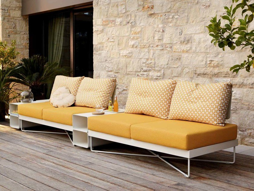 Modular metal garden sofa CORAL REEF | Sectional garden sofa - Roberti Rattan