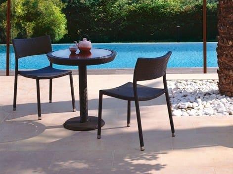 Stackable stainless steel garden chair PAPAYA | Garden chair by Roberti Rattan