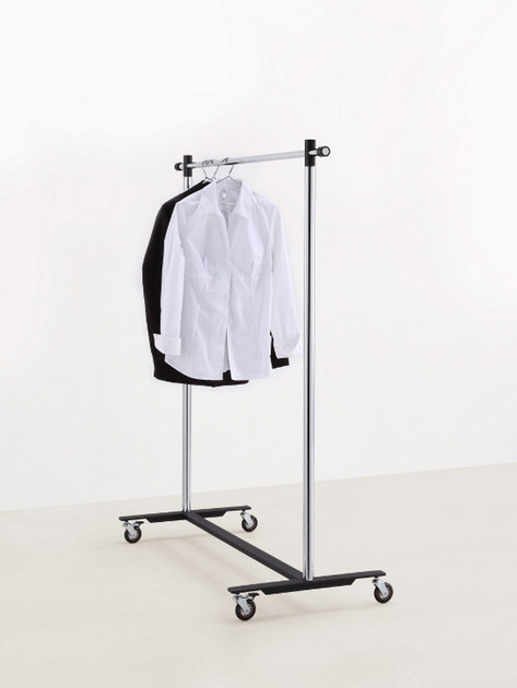 Chrome plated steel coat rack POMCART by MOX