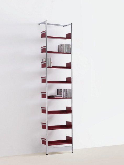 Floorstanding powder coated steel CD rack CD POOL - MOX