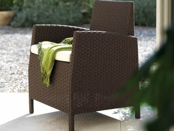 Garden armchair with armrests SAINT TROPEZ | Garden armchair by Roberti Rattan