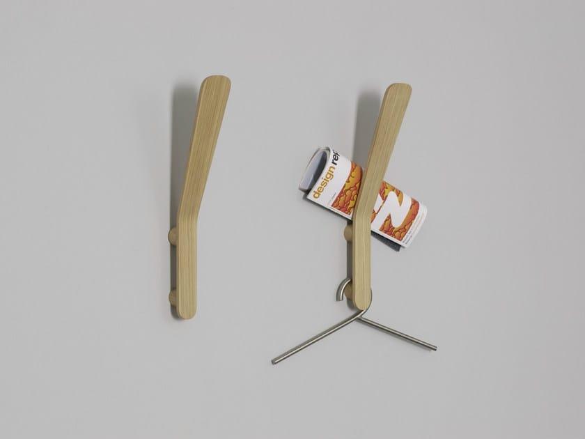 Wall-mounted wood veneer coat rack SOLO - MOX