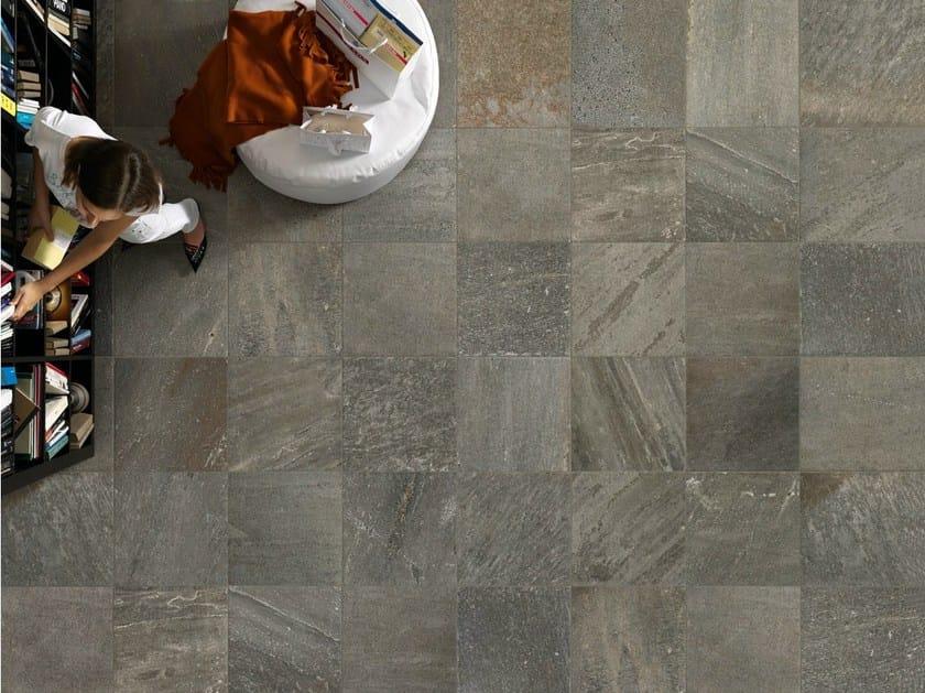 Porcelain stoneware wall/floor tiles with stone effect QUARTZ DESIGN DARK - EDIMAX CERAMICHE