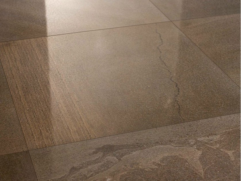 Porcelain stoneware wall/floor tiles with stone effect SANDS BROWN - EDIMAX CERAMICHE