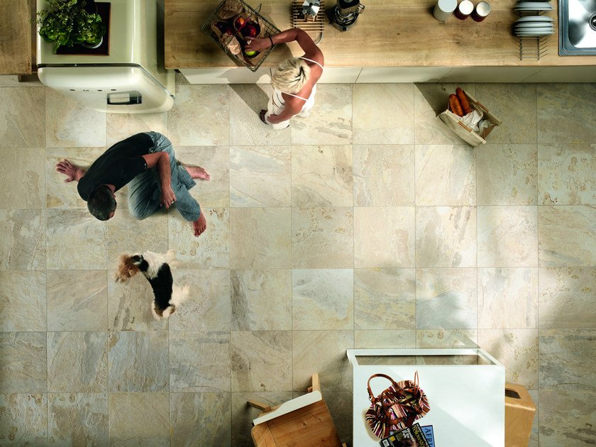 Porcelain stoneware wall/floor tiles with stone effect SLATY ALMOND by EDIMAX CERAMICHE