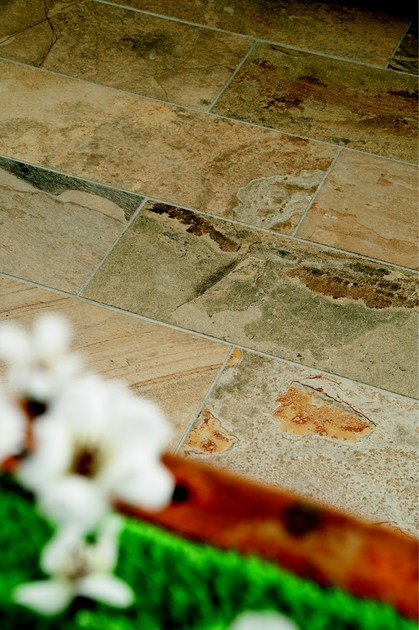 Porcelain stoneware wall/floor tiles with stone effect SLATY OCHRE by EDIMAX CERAMICHE