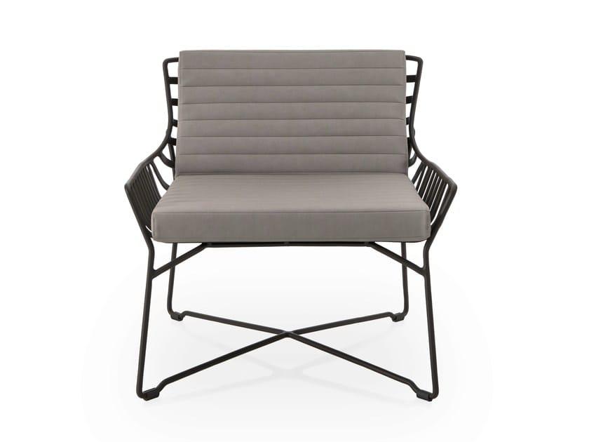 Garden armchair HAMPTONS GRAPHICS | Garden armchair by Roberti Rattan